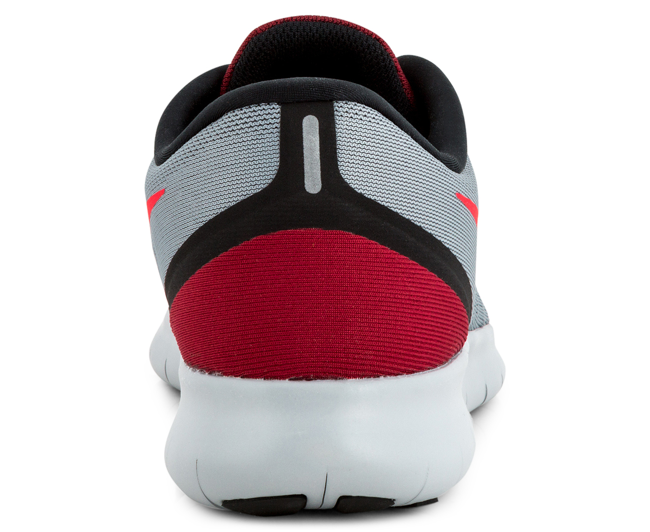 Nike Men S Free Run Shoe Cool Grey Action Red Black