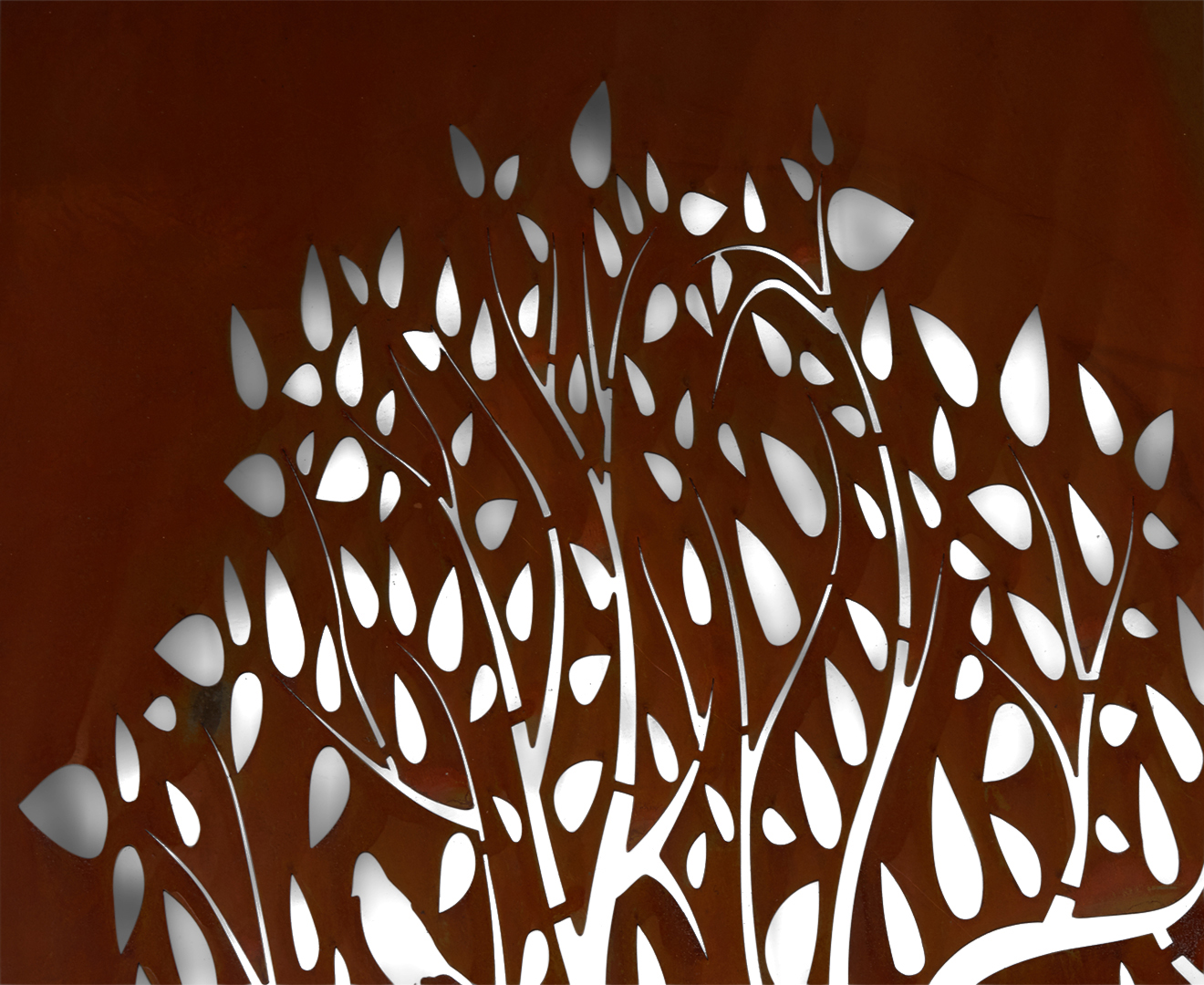 Forest Tree 79x39cm Laser Cut Wall Hanging Rust Great Daily Deals At Australia 39 S Favourite