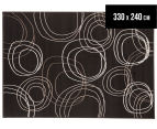 Rug Culture 330x240cm Modern Swirls Rug - Black 1
