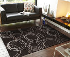 Rug Culture 330x240cm Modern Swirls Rug - Black 2