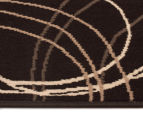 Rug Culture 330x240cm Modern Swirls Rug - Black 4