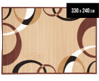 Rug Culture 330x240cm Cool Border Rug - Beige 1