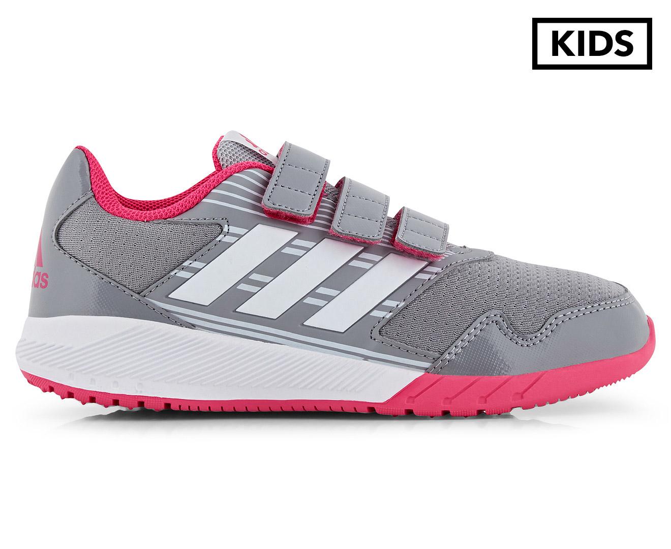cheaper 02460 c9cbf Adidas Pre-School Girls AltaRun Shoe - Mid GreyWhiteShock Pink   Catch.com.au