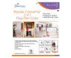 Dreambaby Royale Converta 3-in-1 Play-Pen Gate - White/Grey 3