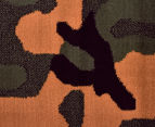 Camouflage 230x160cm Rug - Orange/Green 4