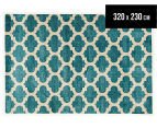 Rug Culture 320x230cm Zen Digital Print Trellis Rug - Blue 1