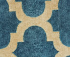 Rug Culture 320x230cm Zen Digital Print Trellis Rug - Blue 3