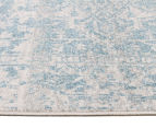 Rug Culture 300x80cm Cairo Runner Rug - Bone White/Blue 3