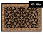 Rug Culture 400x300cm Flower Motif Rug - Black/Brown 1