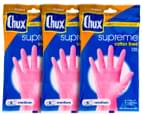 3 x Chux Supreme Cotton Lined Rubber Gloves Medium  1
