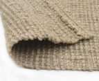 Maple & Elm 320x230cm Natural Fibre Chunky Knit Jute Rug - Natural Silver 5