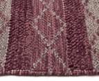 Maple & Elm 280x190cm Wool & Jute Flatweave Rug - Rose 3