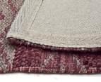 Maple & Elm 280x190cm Wool & Jute Flatweave Rug - Rose 5