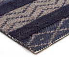 Maple & Elm 320x230cm Wool & Jute Flatweave Rug - Teal 2