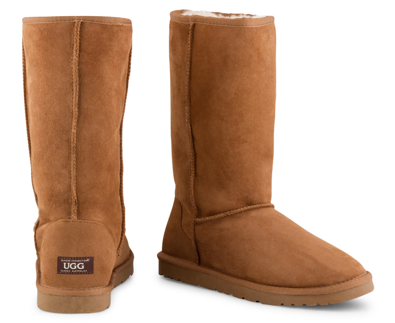 397f8269162 Details about OZWEAR Connection Classic Long Ugg Boot - Chestnut