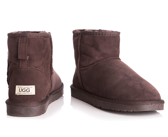 65ae4852960 Details about OZWEAR Connection Classic Mini Ugg Boot - Chocolate