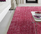 London Metallic 130x70cm Chunky & Thin Shag Rug - Pink 2