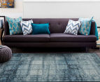 Paris Floor Art Collection Artemis 330x240cm Rug - Blue 2