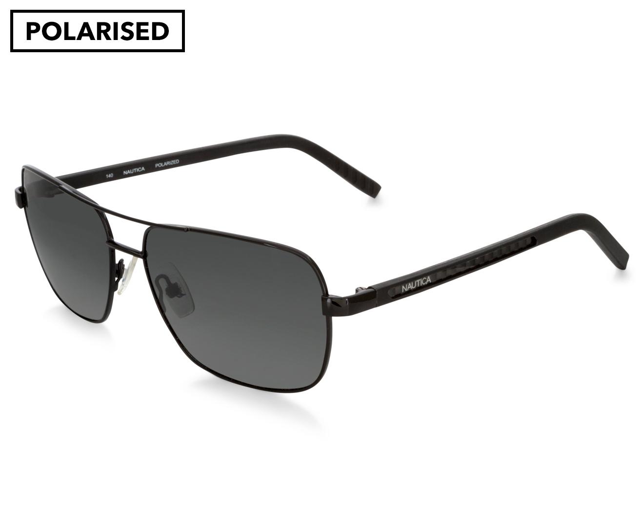 bbf04ac38c Nautica Men s Square Aviator Polarised Sunglasses - Black