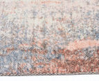 Emerald City 280x190cm Aglow Digital Print Soft Acrylic Rug - Orange/Multi 3