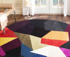 Harlequin 150cm Round Hand Tufted Wool Rug - Multi 2