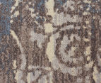 Emerald City 280x190cm Himalaya Digital Print Soft Acrylic Rug - Grey 4