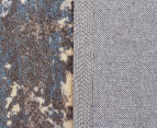 Emerald City 280x190cm Himalaya Digital Print Soft Acrylic Rug - Grey 5