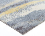 Emerald City 280x190cm Horizon Digital Print Soft Acrylic Rug - Blue 2