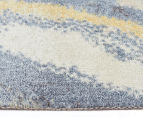 Emerald City 280x190cm Horizon Digital Print Soft Acrylic Rug - Blue 3