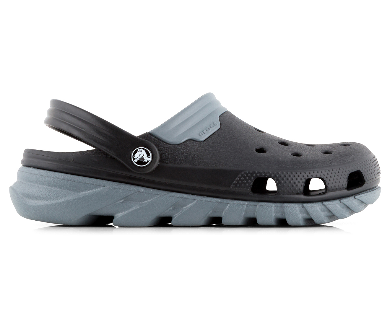Crocs Duet Black Roomy Fit Clog Shoes
