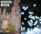 Solar Powered LED Party Lights 200-Pack - White 1