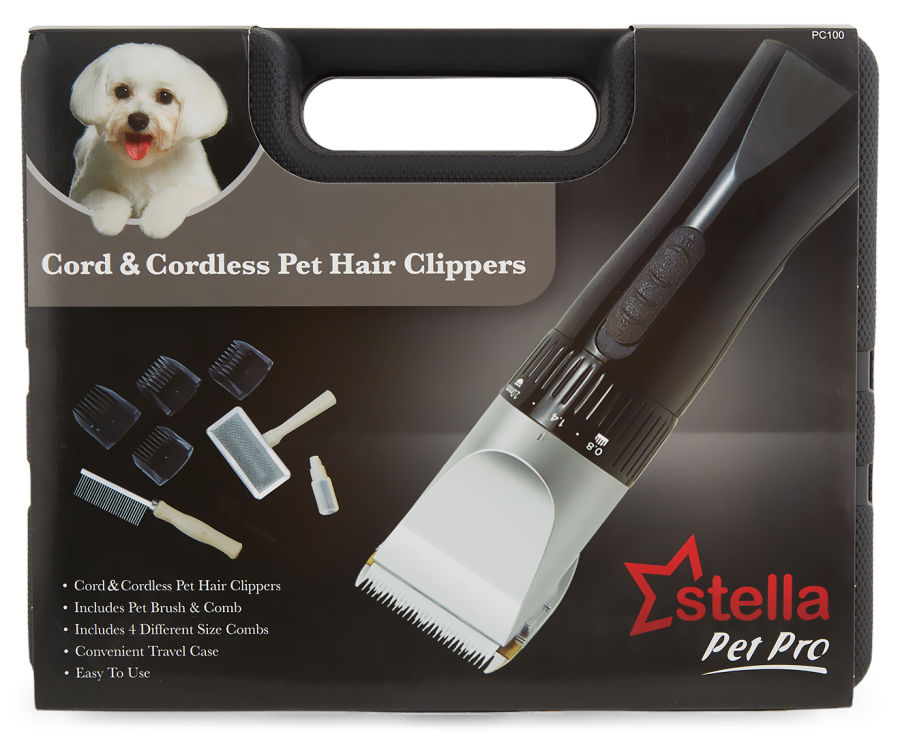 Cord & Cordless Pet Hair Clippers by stella