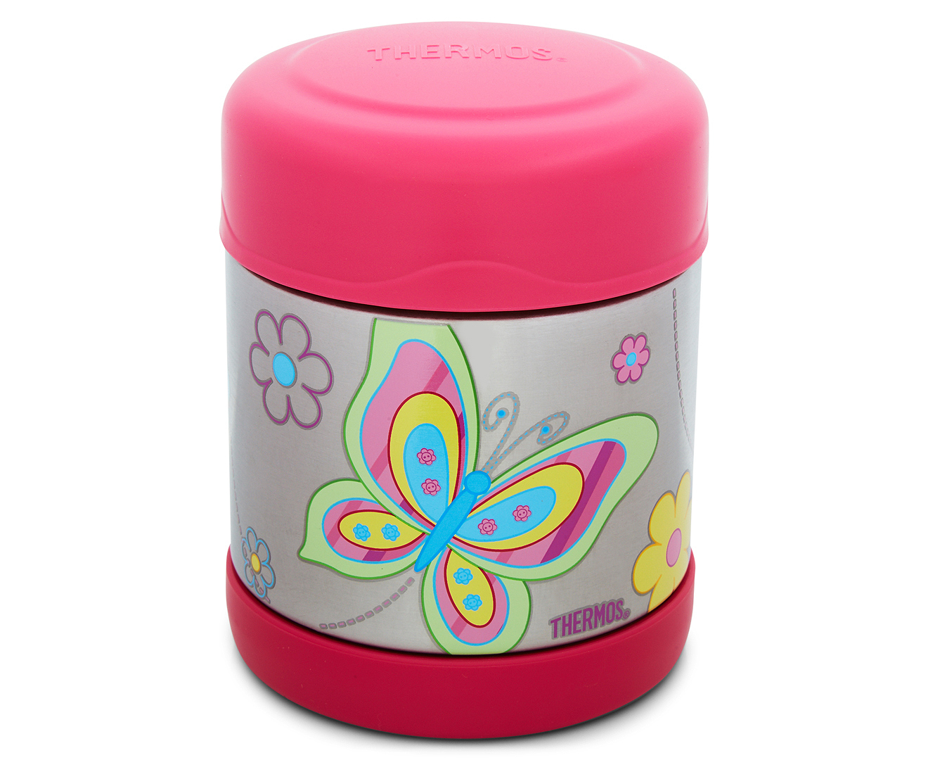 thermos funtainer stainless steel vacuum insulated food jar 290ml butterfly scoopon shopping. Black Bedroom Furniture Sets. Home Design Ideas