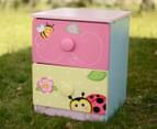 Magic Garden Kids' 54.93cm 2-Drawer Cabinet - Pink/Yellow 5