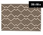 Rug Culture 280x190cm Charlotte & Grey Modern Wool Rug - Taupe 1