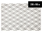 Rug Culture 280x190cm Scandi Wheat Flatweave Rug - Grey 1