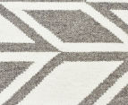 Rug Culture 280x190cm Scandi Wheat Flatweave Rug - Grey 4