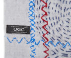 OZWEAR Connection Ugg Women's Merino Wool Scarf - Blue Grey 5