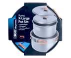 360 Degrees Furno X-Large Pot Set - Chrome 2
