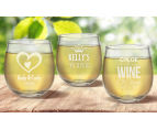 4 x Personalised Stemless Wine Glass 495mL 6