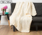 J.Elliot 150x125cm Aspen Throw - White 1