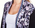 Billabong Women's Size 8 Rosebloom Cardigan - Black 6