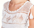 Billabong Women's Del Carmen Crochet Top - Cool Wip 6