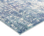 Tapestry Contemporary Easy Care Cairo 400x80cm Runner - Blue 2