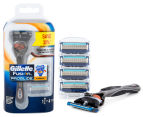 Gillette Fusion Proglide Flexball Razor + Cartridge 4pk 1