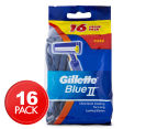 Gillette Blue II Disposable Razors 16pk 1