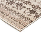 Palais Classic Persian Floral Motif 400x80cm Large Runner Rug - Ivory 2