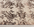 Palais Classic Persian Floral Motif 400x80cm Large Runner Rug - Ivory 3