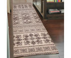 Palais Classic Persian Floral Motif 400x80cm Large Runner Rug - Ivory 5