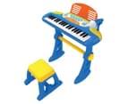Kids' Keyboard w/ Stool & Mic - Blue 1